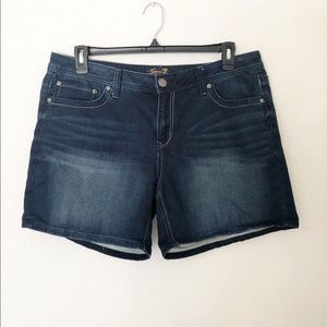 Seven7 Plus Size 16 Blue Denim Shorts